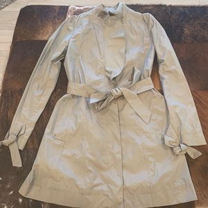 Cole Haan Ruffle Front Trench Coat